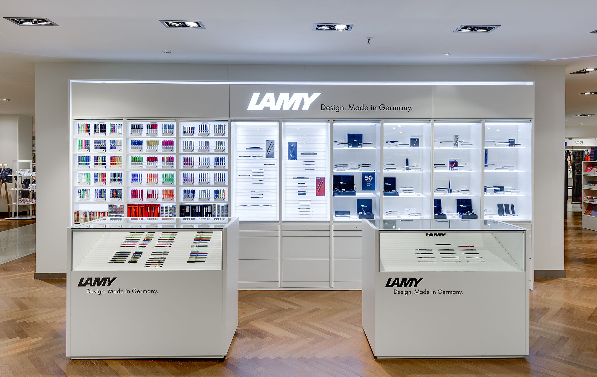 lamy shop in shop bohnacker ladeneinrichtungen gmbh. Black Bedroom Furniture Sets. Home Design Ideas